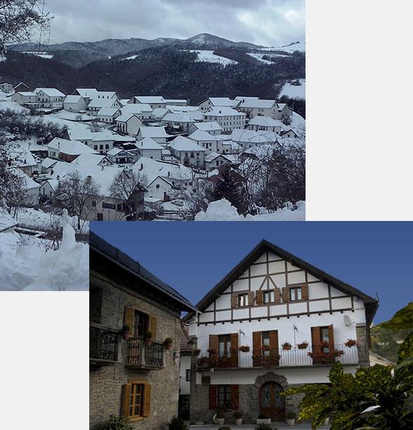 Hostal rural Casa Sario, cálido y acogedor, en Jaurrieta, Valle de Salazar, en el Pirineo de Navarra